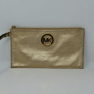 Michael kors Gold pencil makeup bag